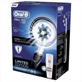 Oral-B PRO 750 - Spazzolino Elettrico Ricaricabile, Nero