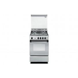 De Longhi SEX 554 NED - Cucina 50x50, 4 Fuochi Gas, Inox, Forno a gas