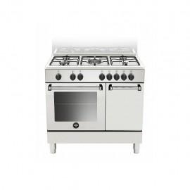 La Germania AMN9P5EBV - Cucina con Forno Elettrico e Porta Bombola, Bianco, 90x60 cm