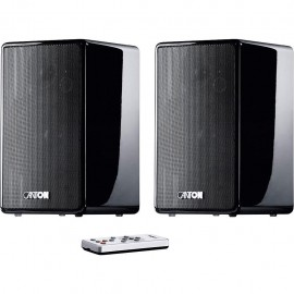 Canton Your World Duo Black Highgloss (Coppia) - Diffusori Wireless Attivi con Telecomando, 2x50W, 3