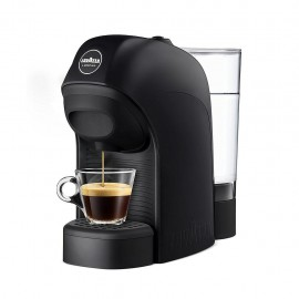 Lavazza Tiny - Macchina Caffè Espresso a Capsule, Stop&Go, 1450 W, 0,75 Lt., Nero