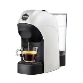 Lavazza Tiny - Macchina Caffè Espresso a Capsule, Stop&Go, 1450 W, 0,75 Lt., Bianco