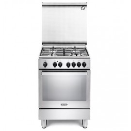 De Longhi PEMX64 - Cucina 60x60 cm, 4 Fuochi gas, Inox