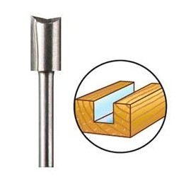 Dremel 654 - Fresa da legno 6,4mm, da usare con l'attrezzatura 335