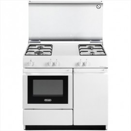 De Longhi SEW 8540 NED - Cucina, 86x50 cm, Forno Elettrico, Portabombole, Bianco