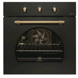 Electrolux FR53G - Forno da Incasso Rustico, AquaClean, Pizza, Nero Ghisa, 60 cm, A