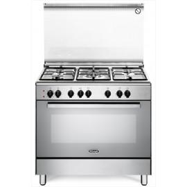 De Longhi DEMX96 - Cucina 90X60, 5 Fuochi Gas, Forno Elettrico, Inox