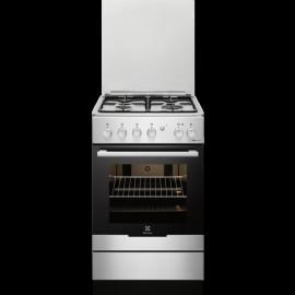 Electrolux RKK20161OX - Cucina con Forno Elettrico, Inox, 56 litri, 50 cm