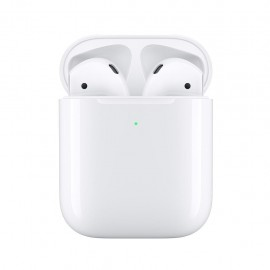 APPLE Airpods MRXJ2TY/A - Auricolari con Microfono, Wireless con Charging Case, Bianco