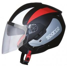 61705 SPARCO CASCO SP503 NERO/ ROSSO OPACO L