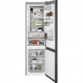 AEG RCB736E5MB - Frigorifero con congelatore, Libera installazione, Nero, 367 Litri, Classe E (A++)