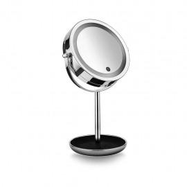 Macom Sensation 213A Sirio Classy - Doppio Specchio Cosmetico Luminoso, 7X, Portaoggetti