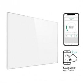 Klarstein 10032804 Wonderwall Smart 1200 -  Radiatore a Infrarossi, 100 x 120 cm, 1200 W, Bianco