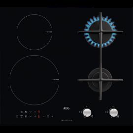 Aeg HD704163NB - Piano Cottura Misto ad Induzione/Gas, 60 cm, Nero
