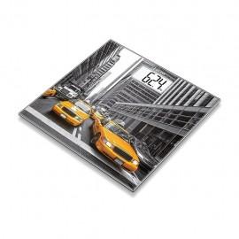 Beurer GS 203 NEW YORK - Bilancia Pesapersone Digitale in Vetro con Immagine di New York, Portata 15