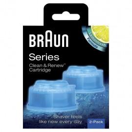Braun CCR 2 Clean&Renew - Cartucce di Ricambio per Rasoi con Sistema Clean&Renew, 2 Pezzi