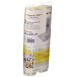 Magic Vac ACO1025 - Rotoli per Sottovuoto, 30x600 cm, Etichetta Prestampata, 2 Pezzi