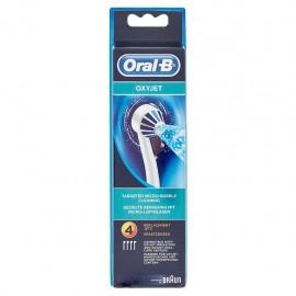 Oral-B OxyJet - Testine di Ricambio Idropulsore OxyJet, 4 Pezzi