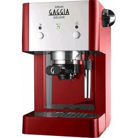 Gaggia RI8425/22 Gran Gaggia Deluxe Rossa - Macchina da Caffé Espresso Manuale e a Cialde, 15 Bar