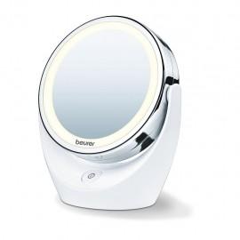 Beurer BS 49 - Specchio Cosmetico Illuminato, Luce Led Bianca, Ingrandimento 5X