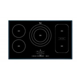 Whirlpool ACM 795/BA - Piano Cottura ad Induzione, FlexiCook, Vetroceramica Nero, 90 cm