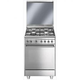 Smeg CX68M8-1 - Cucina a Gas, 60 cm, 4 Fuochi, Forno Elettrico, A
