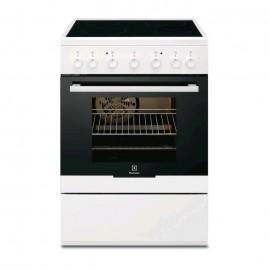 Electrolux EKC61360OW - Cucina Elettrica con Piano in Vetroceramica, Bianco, 54 litri, 60 cm, A