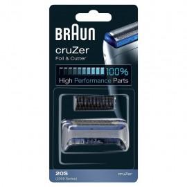 Braun 20S - Testina di Ricambio Compatibile con Serie CruZer
