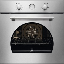 Electrolux FR65X - Forno da Incasso Rustico, AquaClean, Pizza, Inox, 60 cm, A