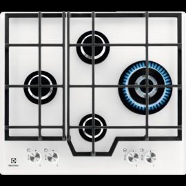 Electrolux PVB646UOV - Piano Cottura a Gas, Cristallo Bianco, 4 Fuochi, 60 cm