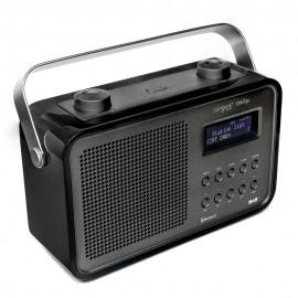 Tangent DAB2go BT Nero - Radio da tavolo Bluetooth/DAB/FM