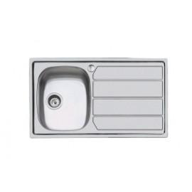 Foster 1179 062 - Lavello S1000, vasca a SX, Inox Spazzolato, 79x50 cm