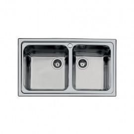 Foster 1382 062 - Lavello S3000 Sopratop, Inox spazzolato, 86x50 cm