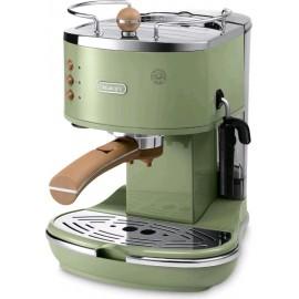 De Longhi ECOV311.GR Icona Vintage - Macchina da Caffè Espresso Manuale e a Cialde, 1100 W, 15 Bar,
