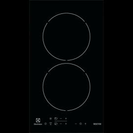 Electrolux EHH3320NOK - Piano Cottura ad Induzione, Vetroceramica Nero, 2 Zone, 30 cm