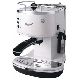 De Longhi ECO311.W Icona - Macchina da Caffé a Cialde e Manuale, 1100 Watt, Bianco