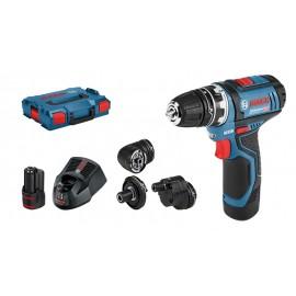 Bosch GSR 12V-15 FC FlexiClick Set - Avvitatore/Trapano a Batteria, 2 Batterie, 12V, 2Ah