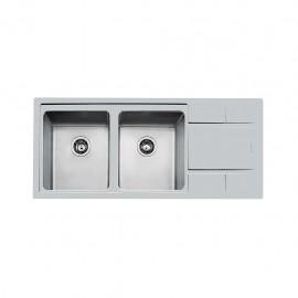 Foster 4312 051 - Lavello S4000 Sopratop, vasche a DX, Inox spazzolato, 116x50 cm