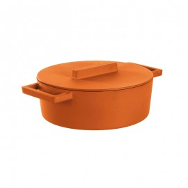 From Sambonet to Kitchen 51638C30 Terra.Cotto - Casseruola Ovale 30x25 Cm C/Cop Ghisa Curry