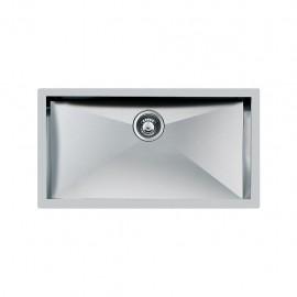 Foster 1218 850 - Lavello Quadra Sottotop, Inox spazzolato, 85x50.5 cm