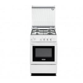 DeLonghi SESW 554 NED - Cucina 60 x60cm, 4 Fuochi Gas, Forno Elettrico, Bianca