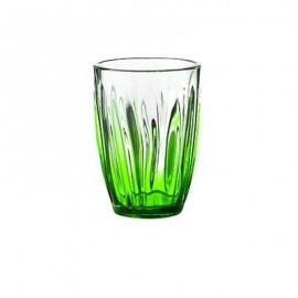 Guzzini 20050344 Iris - Set 6 Bicchieri Bibita, Verde, 460 cc