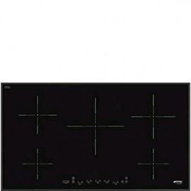 Smeg SI5952B - Piano Cottura a Induzione, 90 cm, 5 Zone, Semifilo