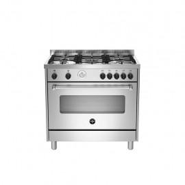 La Germania AMN965EXT - Cucina con Forno Elettrico, Inox, 90x60 cm