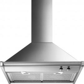 Smeg KD70XE - Cappa Aspirante a Parete, Inox Satinato, 70 cm, 820 m³/h, B