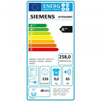 Siemens WT45W5R9IT - Asciugatrice a Pompa di Calore, 9 Kg, A++