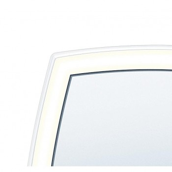 Beurer BS 99 - Specchio Cosmetico Illuminato, 16x16cm, Ingrandimento 5X