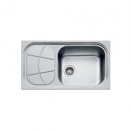 Foster 1561 202 - Lavello Big Bowl Sottotop, vasca a SX, Inox spazzolato, 86x50 cm