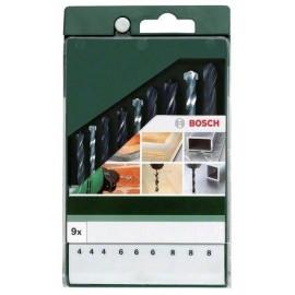 Bosch Assortimento misto 9 pz per lavori in metallo, legno e pietra 4.0x75 - 6.0x93 - 8.0x117/4.0x75