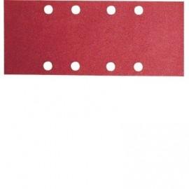 Bosch 10 Fogli abrasivi per levigatrice orbitale, RedWood Top, 93x185mm, G60, applicazione a strappo